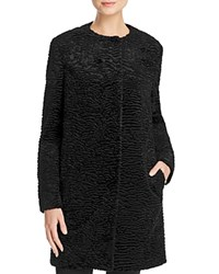 Basler Faux Astrakhan Fur Coat Black