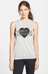 Spiritual Gangster 'Love' Muscle Tank Heather Grey