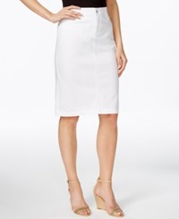 Charter Club Denim Skirt Only At Macy's White Wash
