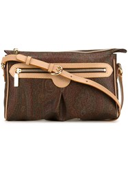 Etro Smalla Rectangular Shoulder Bag Brown