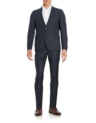 Strellson Two Piece Wool Suit Set Navy