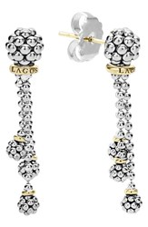 Lagos Women's 'Caviar Forever' Tassel Drop Earrings Silver Gold