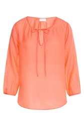 Velvet Cotton Silk Tunic Orange