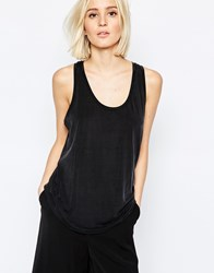Weekday Slinky Tank Black