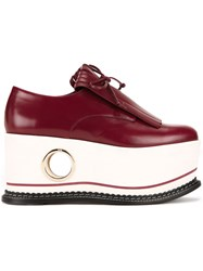 Paloma Barcelo Platform Loafers Red
