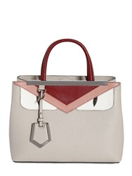 Fendi Monster 2 Jour Leather Top Handle