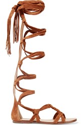 Sigerson Morrison Boni Suede Gladiator Sandals Brown