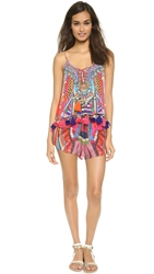 Camilla Frilled Drawstring Romper Dance Of The Flower H'mong