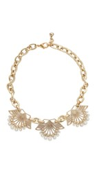 Lulu Frost Alesia Necklace Gold Pearl