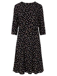 Sugarhill Boutique Cate Heart Print Dress Black