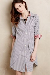 Anthropologie Tilda Tulip Hem Shirtdress Light Grey