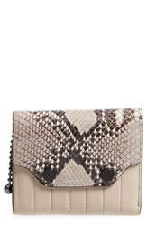 Rag And Bone Snake Pattern Moto Wallet Fawn Python