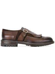 Doucal's Fringed Loafers Brown
