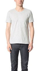 Shades Of Grey Short Sleeve Henley Heather Silver