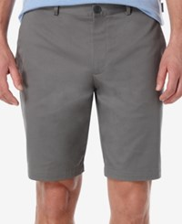 Perry Ellis Men's Slim Fit Flat Front Twill Shorts Castlerock