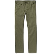 Rag And Bone Slim Fit 2 Brushed Cotton Twill Chinos Green