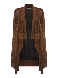 Biba Throw On Zip Detail Cardigan Bronze