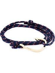 Miansai Hook Wrap Bracelet Blue