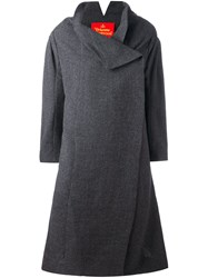 Vivienne Westwood Red Label Concealed Fastening Mid Coat Grey