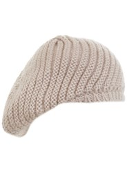 Miss Selfridge Nude Slouchy Beanie Hat