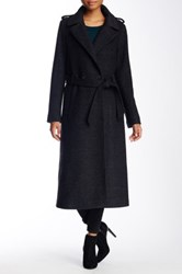 Soia And Kyo Wool Blend Relaxed Trench Coat Gray