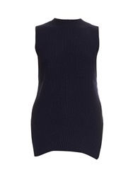 The Row Tippi Wool And Cashmere Blend Top