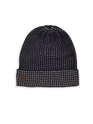 Cole Haan Thermal Grid Beanie Hat Blazer Blue