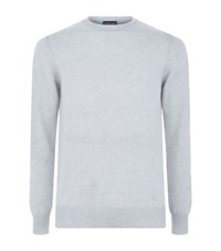 Emporio Armani Crew Neck Cashmere Knit Male Light Grey