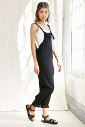 Urban Renewal Remade Linen Tie Front Overall Black