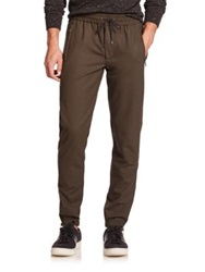 Vince Traveler Stretch Wool Track Pants Fatigue Green