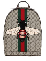 Gucci Bee Patch Gg Supreme Backpack