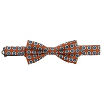 Peckham Rye Made In England Floral Medallion Bow Tie Gold
