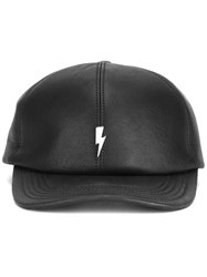Neil Barrett 'Lightning Bolt' Baseball Cap Black