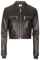 Mason Cropped Leather Jacket By Unique Black