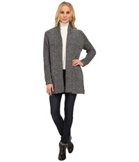Nydj Sparkle Car Coat Charcoal Mix Women's Sweater Gray