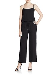Haute Hippie Wide Leg Silk Jumpsuit Black