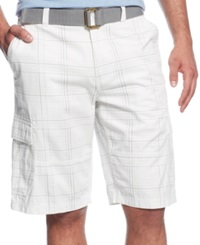 American Rag Happy Belted Cargo Shorts Bright White