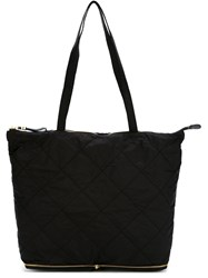 Moncler Convertible Quilted Shopper Tote Black