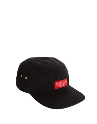 The Quiet Life Contrast Label 5 Panel Cap Black