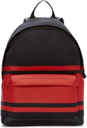 Givenchy Black And Red Striped Neoprene Backpack