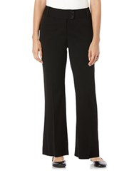 Rafaella Petite Flared Knit Pants Black