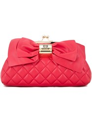 Love Moschino Bow Detail Clutch Red
