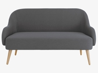 Momo Greys Fabric Charcoal Fabric 2 Seater Sofa Habitatuk