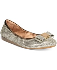 Cole Haan Tali Bow Ballet Flats Women's Shoes Gold