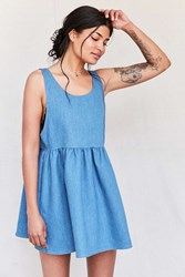 Urban Renewal Recycled Denim Babydoll Dress Indigo