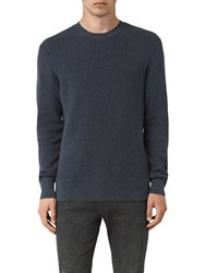 Allsaints Rothay Crew Jumper Workers Blue