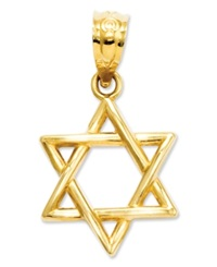 Macy's 14K Gold Charm 3D Star Of David Charm