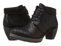 Wolky Jacquerie Black Drops Printed Seude Women's Lace Up Boots