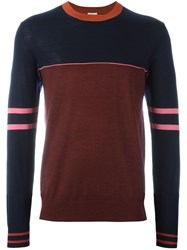 Paul Smith Colour Block Jumper Blue