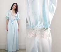 Vintage '80S Christian Dior Robe Long Duster By Cutandchicvintage